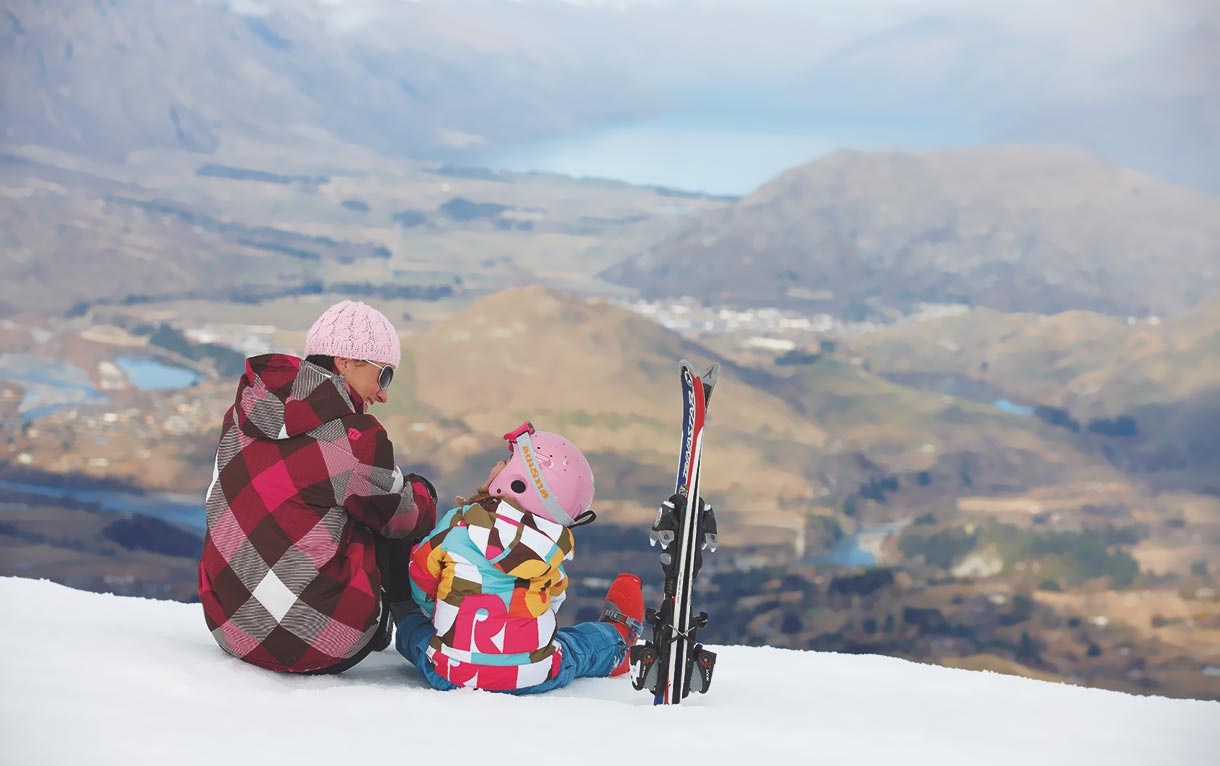 Family ski holiday in Queenstown